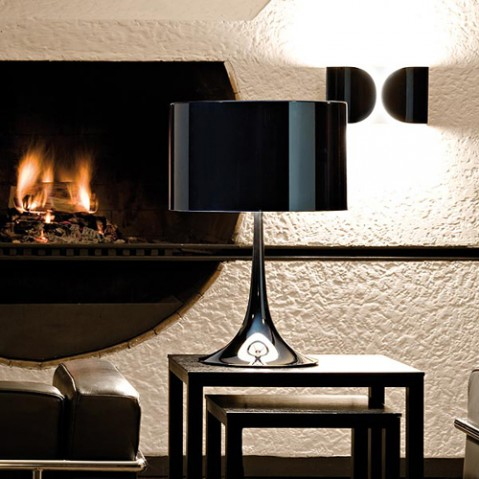 lampe poser spun light t1 flos noir