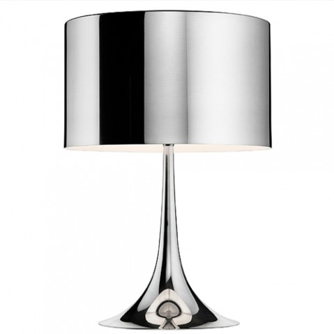 lampe poser spun light t2 flos aluminium