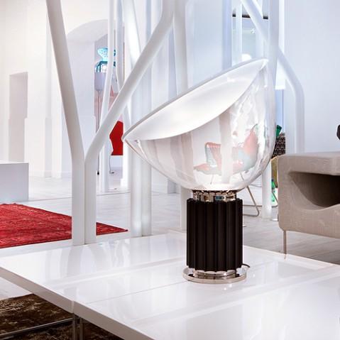 lampe poser taccia led flos aluminium