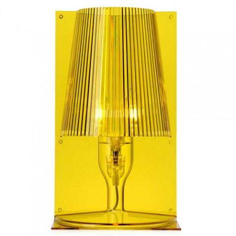 lampe poser take kartell jaune