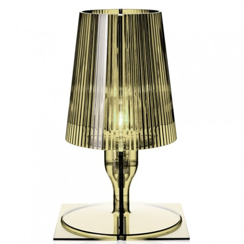 lampe poser take kartell vert olive