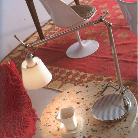 lampe poser tolomeo basculante artemide parchemin