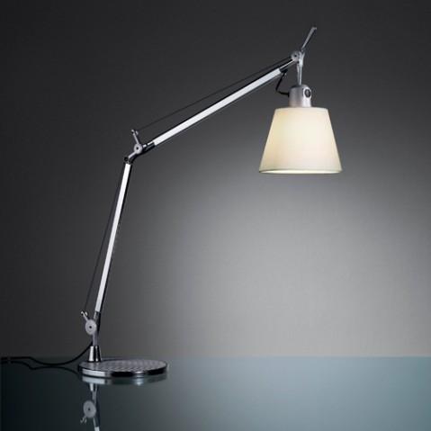 lampe poser tolomeo basculante artemide satin