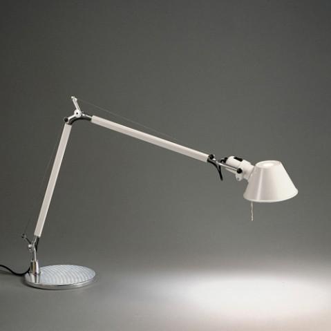 lampe poser tolomeo halogene artemide noir