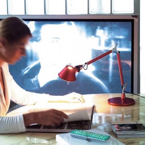 lampe poser tolomeo micro artemide aluminium