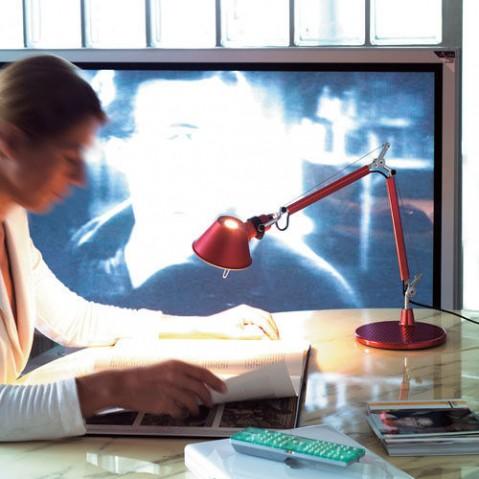 lampe poser tolomeo micro artemide rouge
