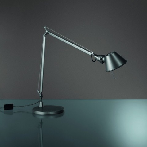 lampe poser tolomeo midi led artemide anthracite