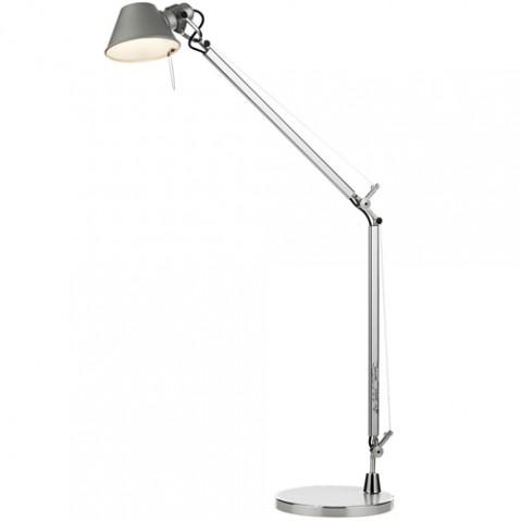 lampe poser tolomeo midi led artemide aluminium