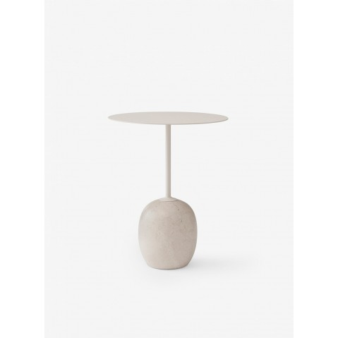 TABLE D'APPOINT LATO LN9 DE &TRADITION, IVORY WHITE & CREMA DIVA MARBLE