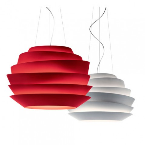 le soleil foscarini suspension design blanc