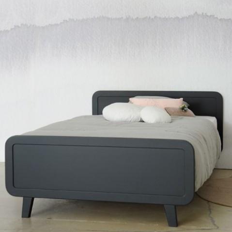 lit enfant lit rond laurette gris souris