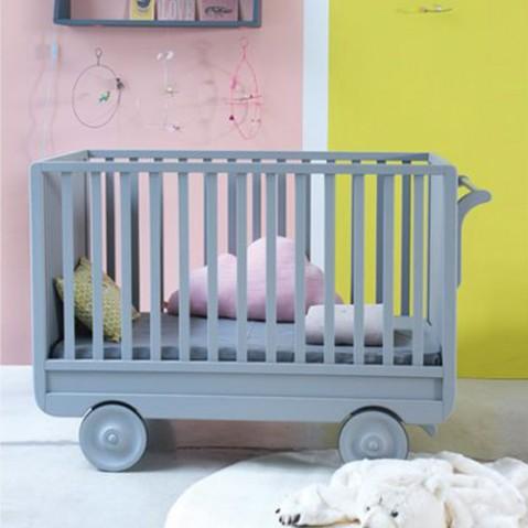 lit enfant roulotte laurette gris souris