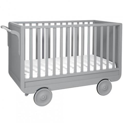 lit enfant la roulotte laurette gris