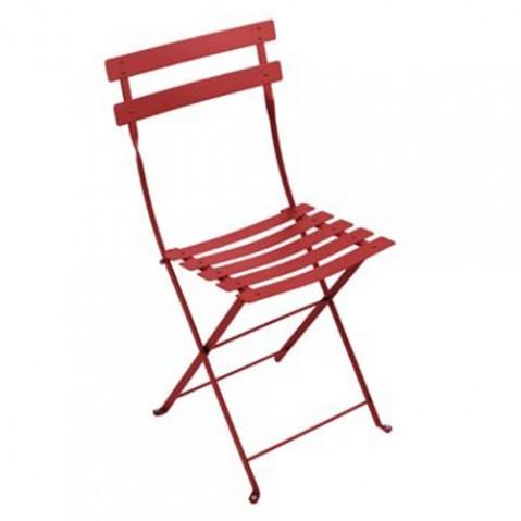 lot 2 chaises bistro fermob piment