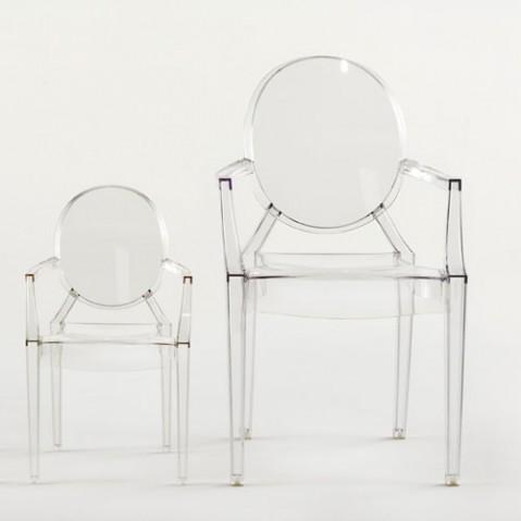 Lou Lou Ghost Fauteuil Enfant Design Kartell Transparent