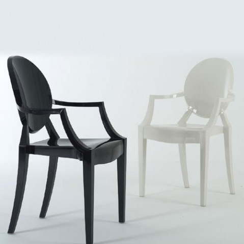 Louis Ghost Design Kartell Blanc Opaque