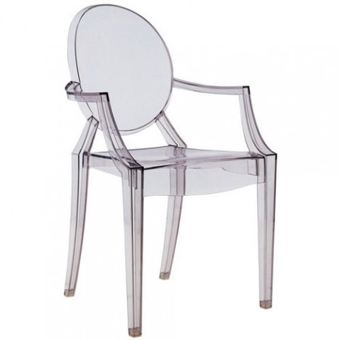 Louis Ghost Fauteuil Design Kartell Fume