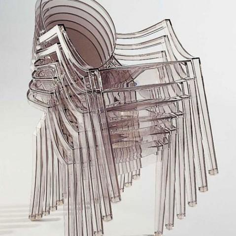Louis Ghost Fauteuil Design Kartell Bleu Transparent