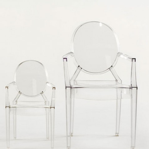 Fauteuil Louis Ghost Kartell Transparent