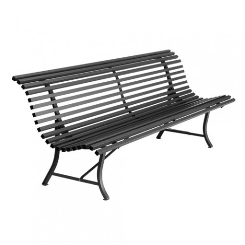 Louisiane Banc 200 Design Fermob Noir