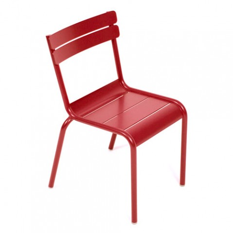 luxembourg kid fermob chaise enfant coquelicot