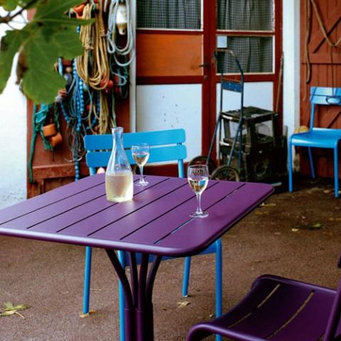Luxembourg Table Carrée Design Fermob Tilleul