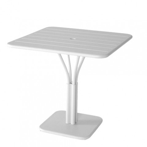 table carree luxembourg 1 pied fermob blanc