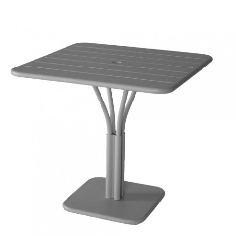 Luxembourg Table Carrée Design Fermob Gris Orage