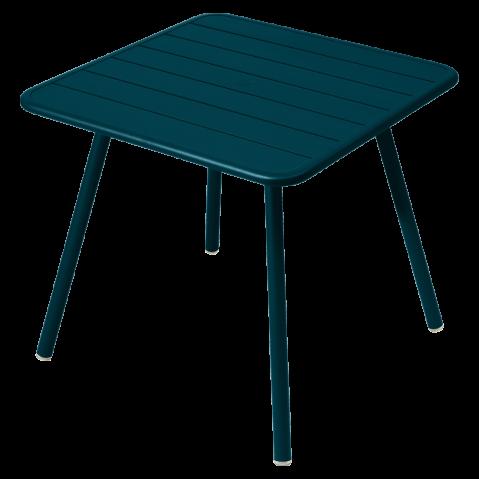 TABLE CARRÉE 4 PIEDS LUXEMBOURG, Bleu acapulco de FERMOB