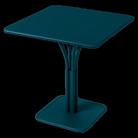 TABLE CARRÉE LUXEMBOURG, Bleu acapulco de FERMOB