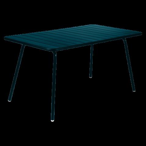 TABLE LUXEMBOURG 143X80 CM, Bleu acapulco de FERMOB