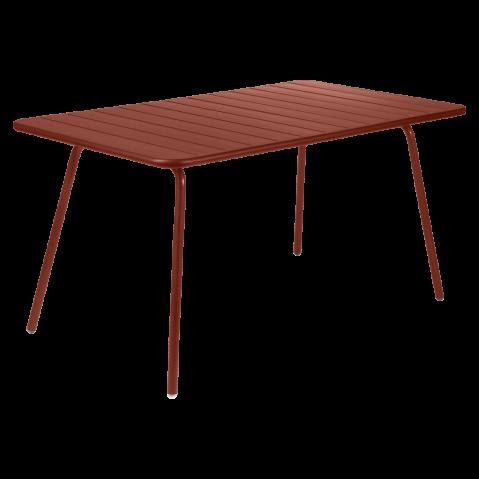 TABLE LUXEMBOURG 143x80CM, Ocre rouge de FERMOB