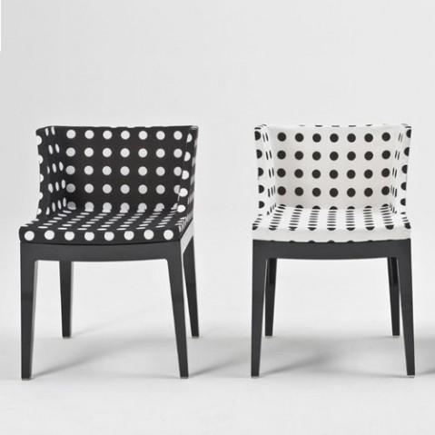 fauteuil mademoiselle pied de poule de kartell. Black Bedroom Furniture Sets. Home Design Ideas