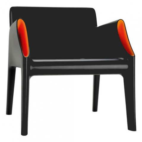 Magic Hole Fauteuil Design Kartell Noir Orange