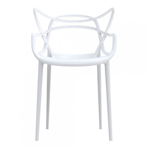 Chaise masters blanc de kartell for Chaise kartell masters