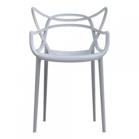 chaise masters kartell gris