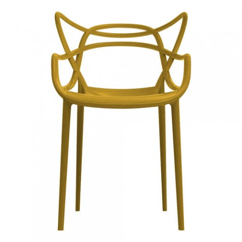 chaise masters kartell moutarde