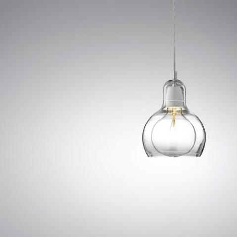 Mega Bulb And tradition suspension design cordon transparent