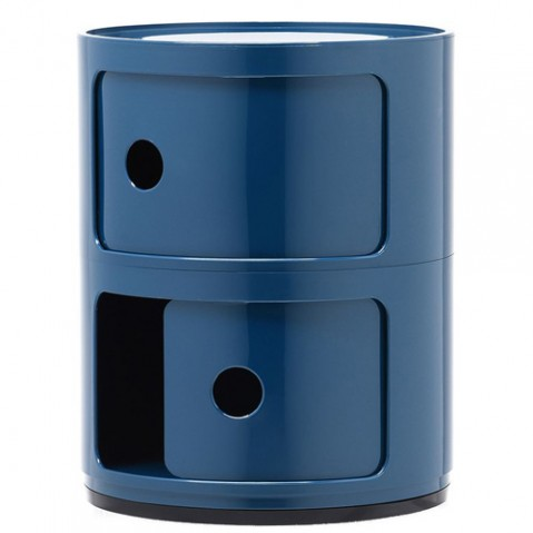 meuble componibili 2 elements kartell bleu