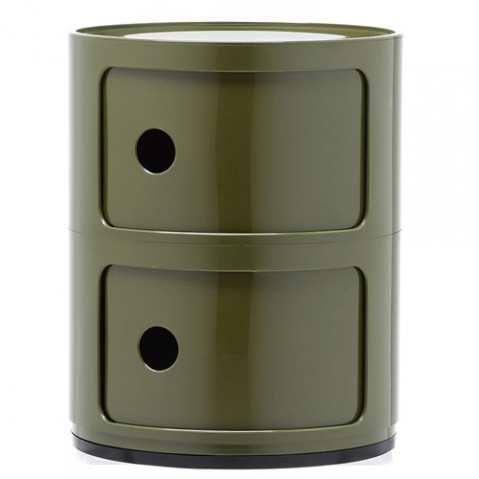 meuble componibili 2 elements kartell vert
