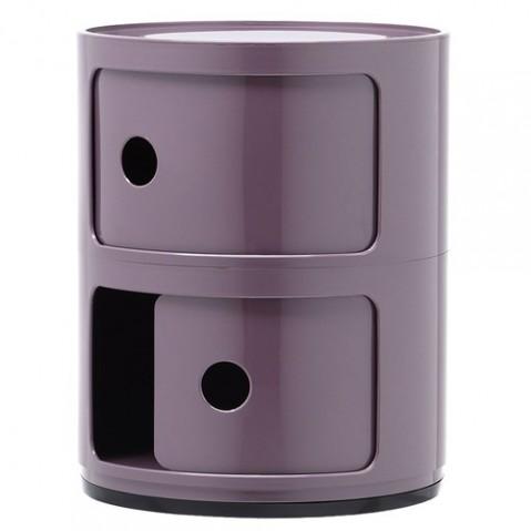 meuble componibili 2 elements kartell violet