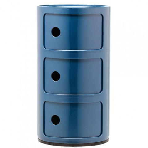 meuble componibili 3 elements kartell bleu