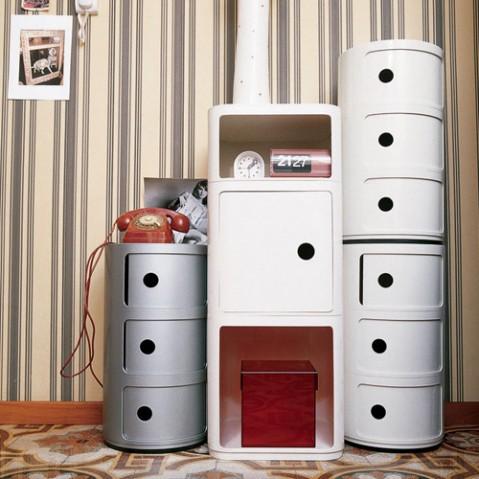 meuble componibili 3 elements kartell vert