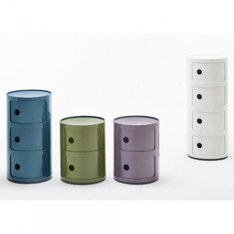 meuble componibili 3 elements kartell violet