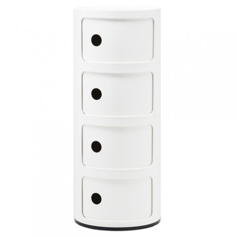 meuble componibili 4 elements kartell blanc
