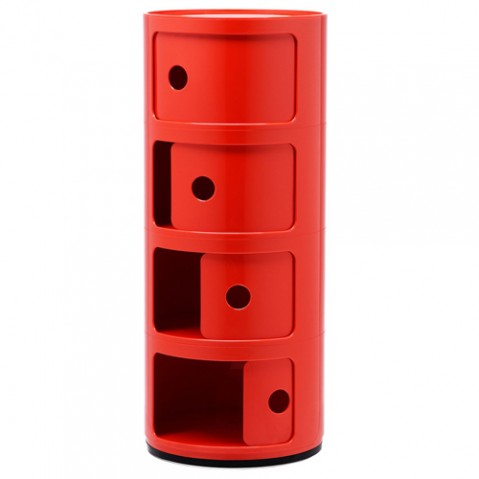 meuble componibili 4 elements kartell rouge