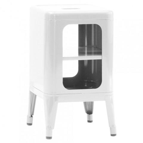 meuble tabouret 500 tolix blanc