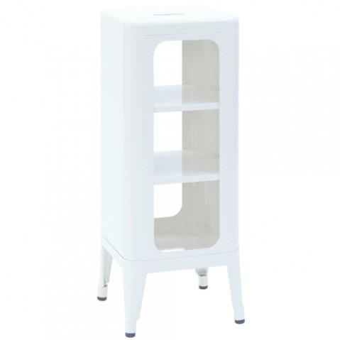 meuble tabouret 750 tolix blanc
