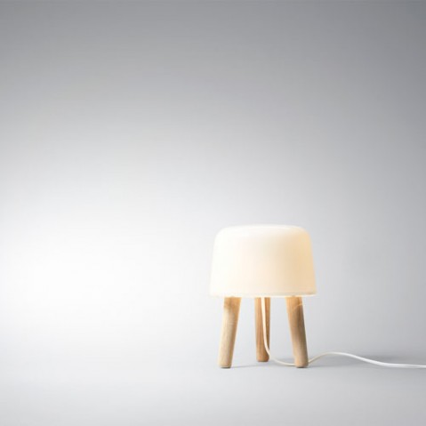 milk and tradition lampe à poser design cable blanc