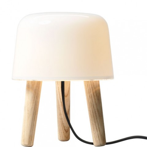milk and tradition lampe à poser design cable noir